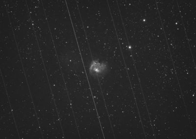Starlink passes Sh2-168 by pete_xl